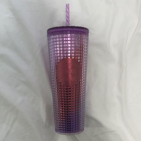 starbucks • purple grid tumbler